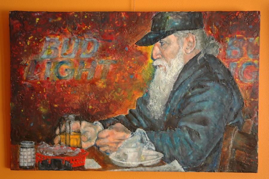 Figurative Painting - Bud Light  by Melissa Jones