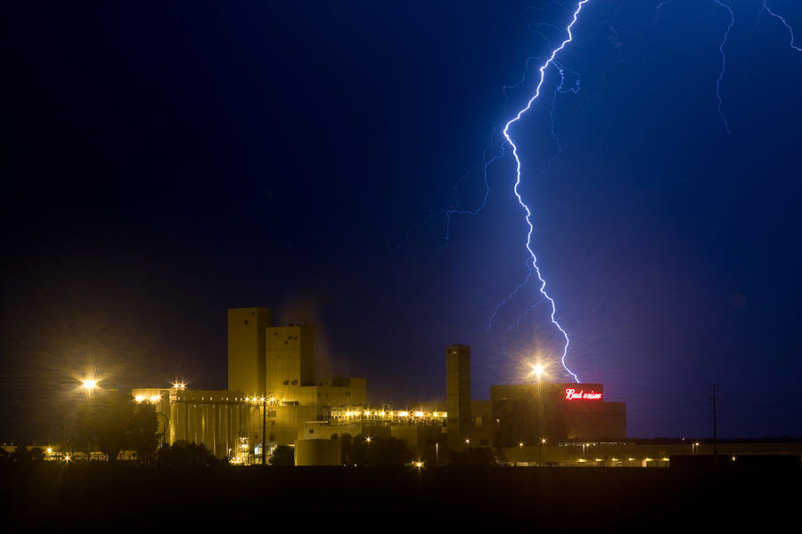 Lightning Photograph - Bud Light  Ning by James BO Insogna
