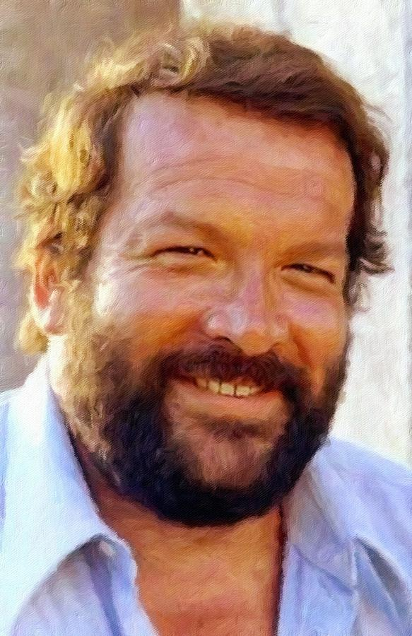Bud Spencer Painting - Bud Spencer by Vincent Monozlay
