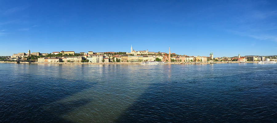 Budapest Photograph - Budapest and Danube Panorama by Matthias Hauser