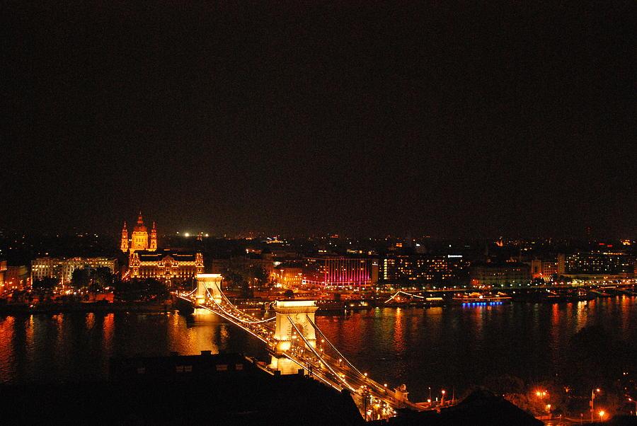 Photograph Photograph - Budapest At Night Hungary by Eva Ramanuskas