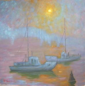 Morning Painting - Budapest In The Morning by Hamdija Zahirovic