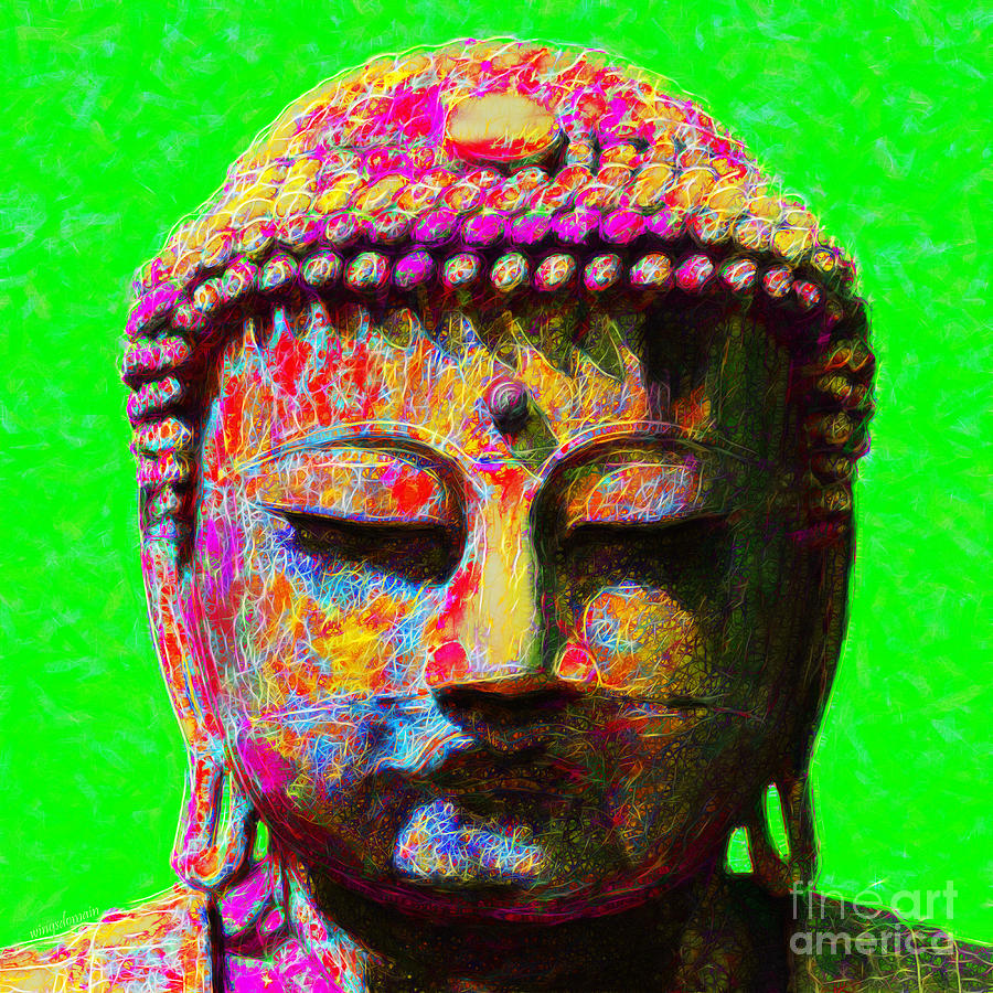 Religion Photograph - Buddha 20130130m100 by Wingsdomain Art and Photography