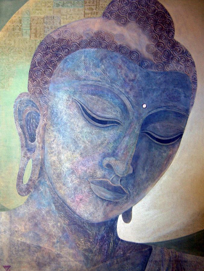 Buddha Painting - Buddha Alive in Stone by Jennifer Baird