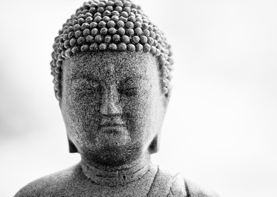 Buddha Photograph - Buddha In Black And White by Edward Myers