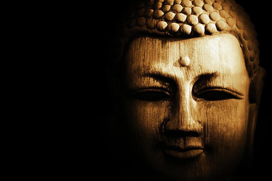 Buddha Photograph - Buddha In Sepia by Skip Nall