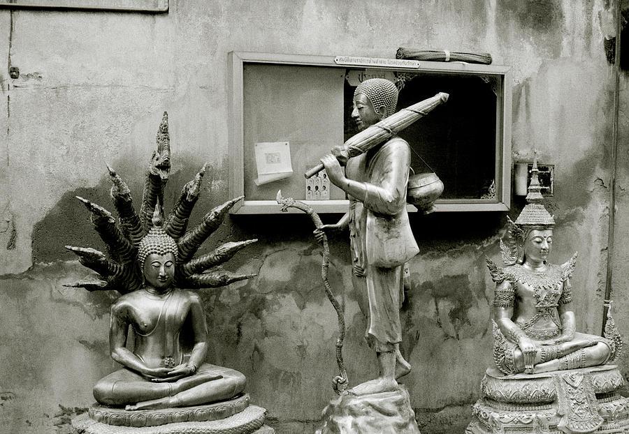 Buddha In The Streets Of Bangkok by Shaun Higson
