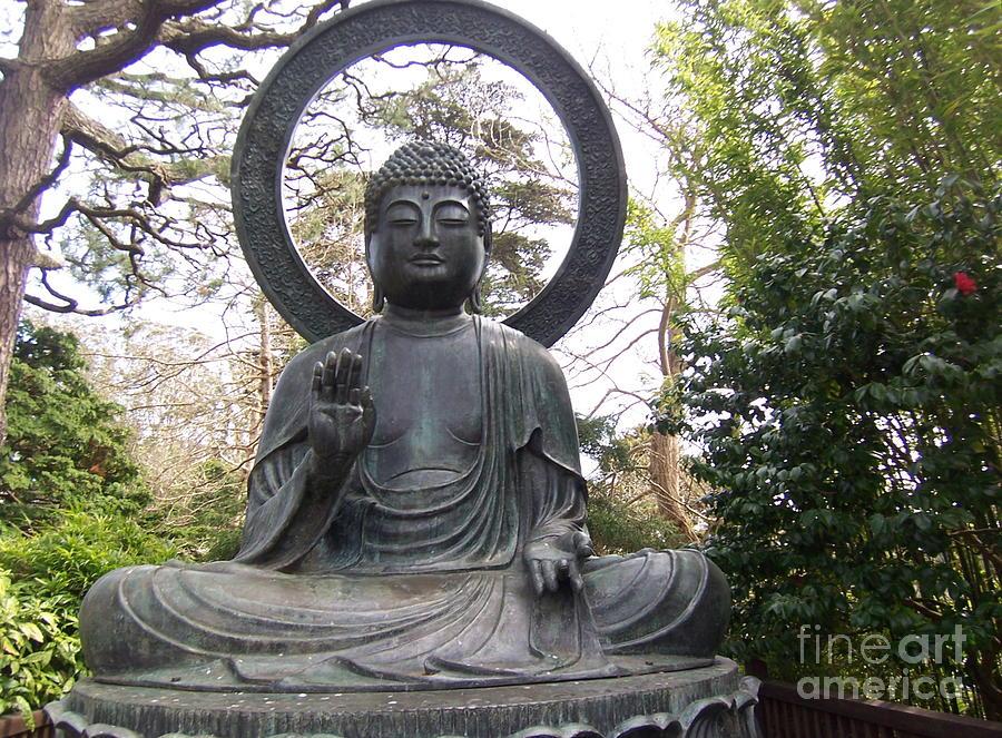 Buddha Photograph - Buddha In The Woods by Sharon Donahue
