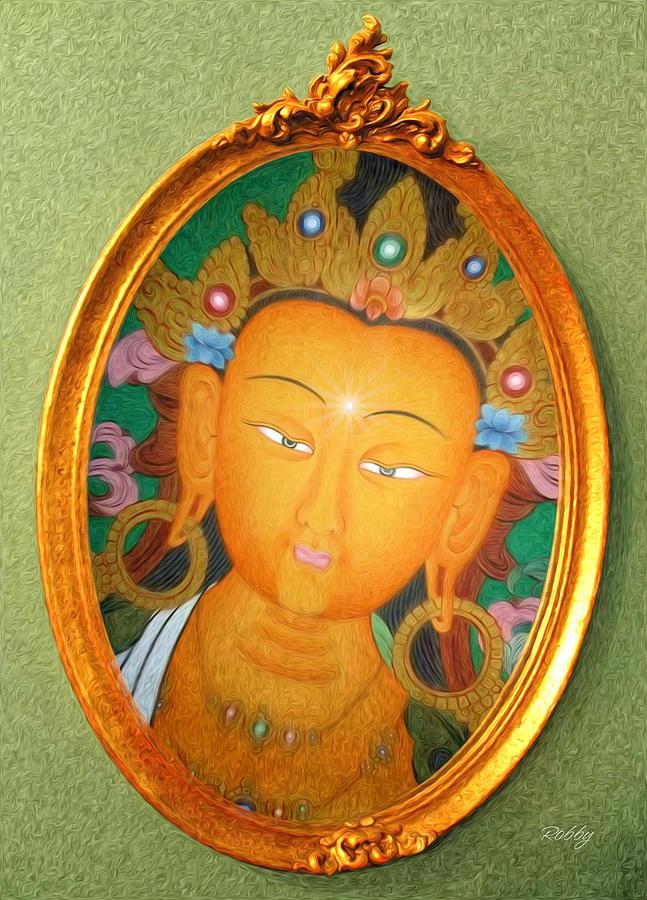 Buddha Mirror Painting by Robby Donaghey