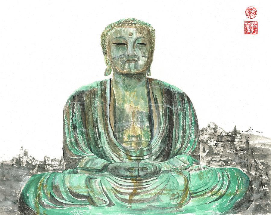 Japanese Painting - Buddha Of Kamakura Statue by Terri Harris
