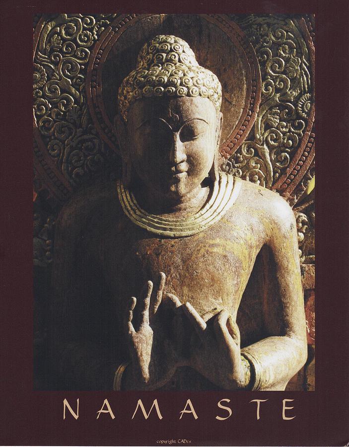 Buddha offering namaste greeting painting by desiderata gallery buddha painting buddha offering namaste greeting by desiderata gallery m4hsunfo