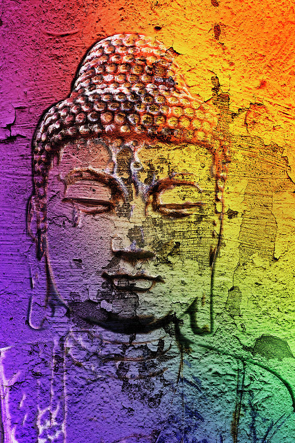 Buddha on the wall by 2bhappy4ever