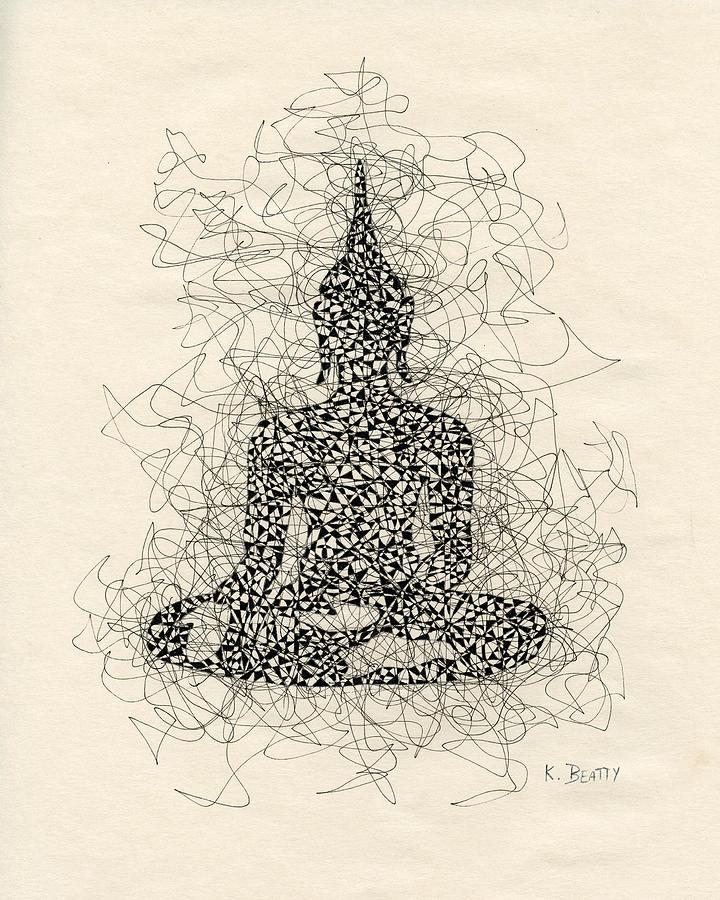 Buddha Drawing - Buddha Pen And Ink Drawing by Karla Beatty