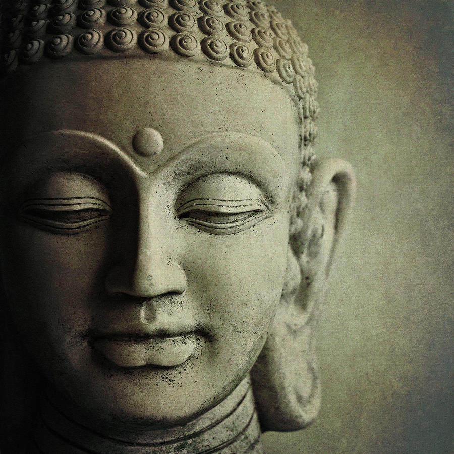 Square Photograph - Buddha by Photo - Lyn Randle