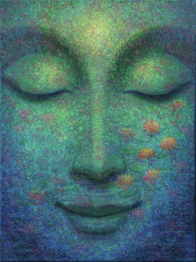Buddha Smile by Sue Halstenberg