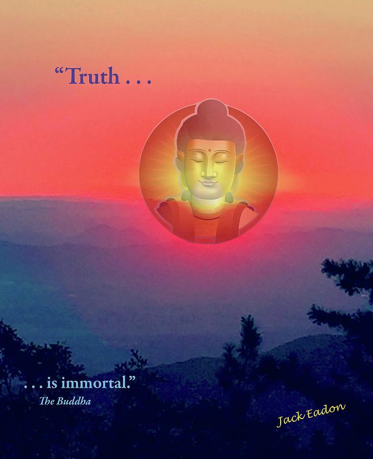 Meditate Photograph - Buddha Sunset by Jack Eadon
