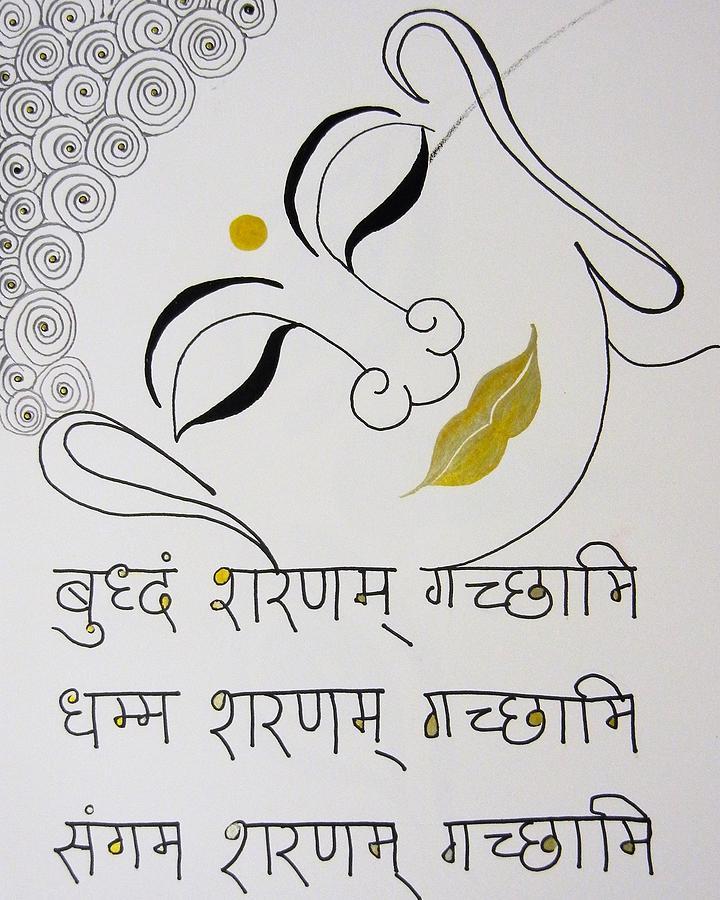 Buddham Saranam Gacchami Drawing