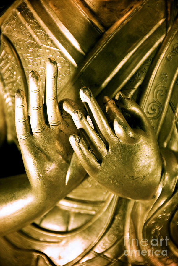 Ancient Photograph - Buddhas Hands by Ray Laskowitz - Printscapes