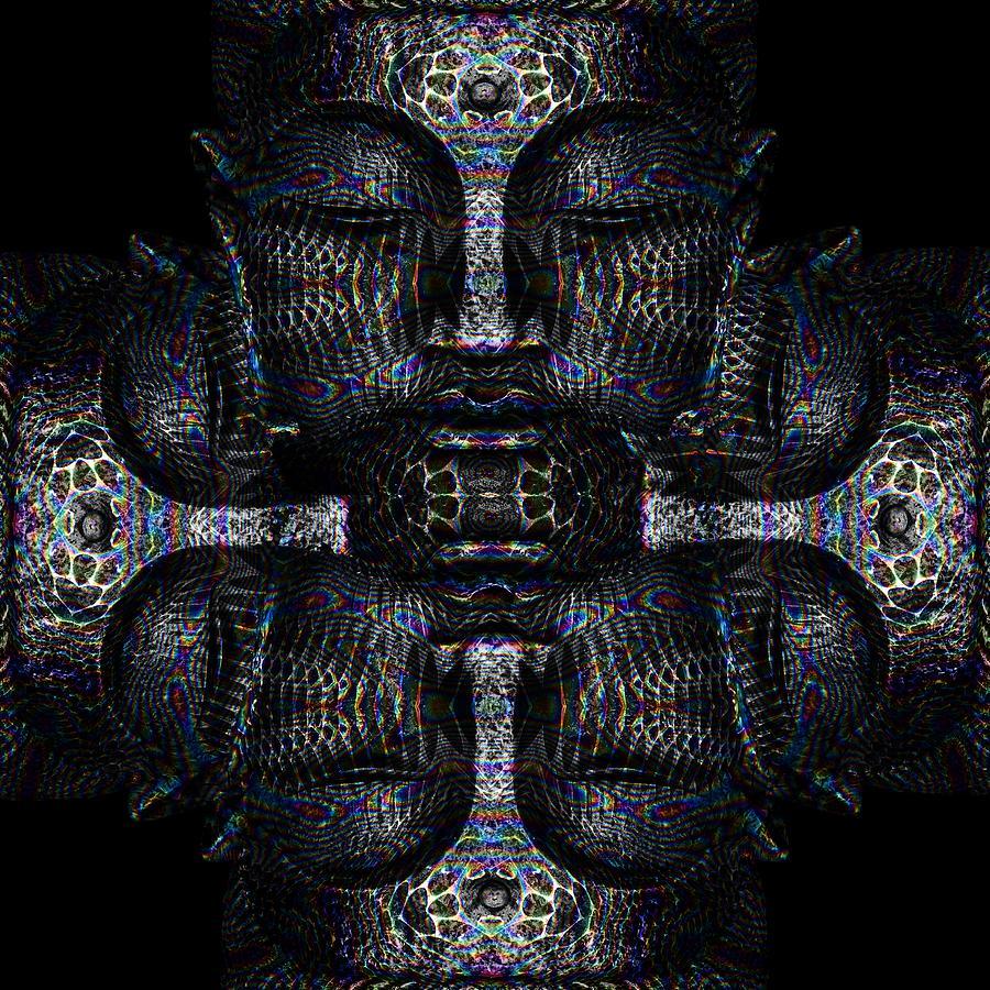 Buddha Digital Art - Buddhas Psylence by Shiva Designz