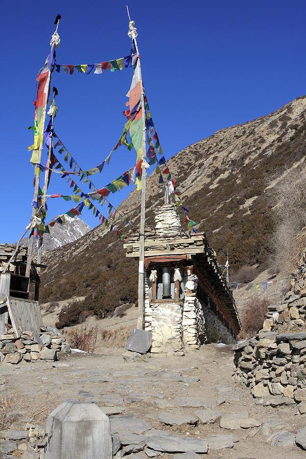 Nepal Photograph - Buddhist Prayer Wheels by Aidan Moran