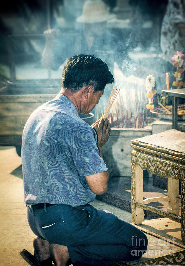 Buddhist Way Of Praying Photograph