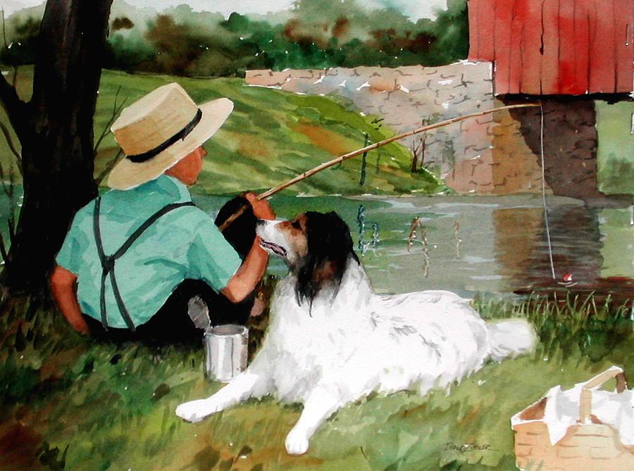 Amish Painting - Buddies by Faye Ziegler