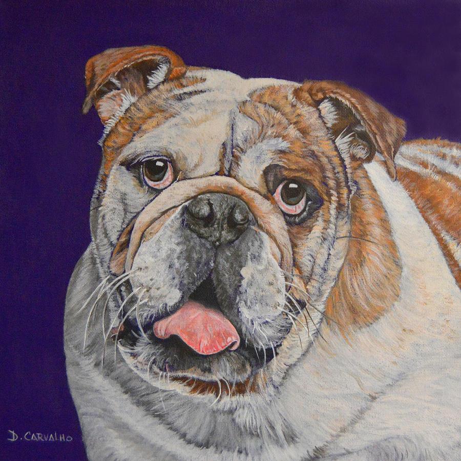Dog Painting - Buddy by Daniel Carvalho