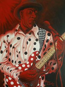 Buddy Guy In Concert Painting by Portland Art Creations