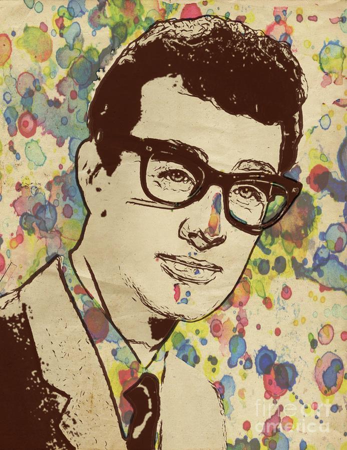 Buddy Holly Pop Art By Mary Bassett Digital Art