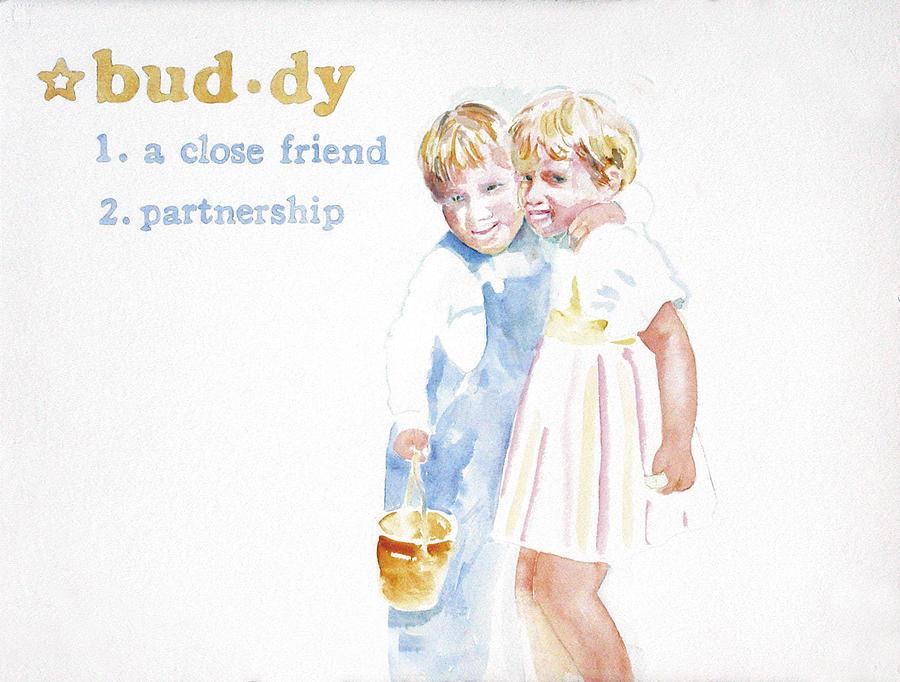 Boys Painting - Buddy by Janice Crow