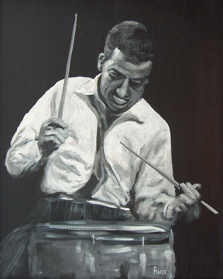 Jazzman Painting - Buddy by Pete Maier