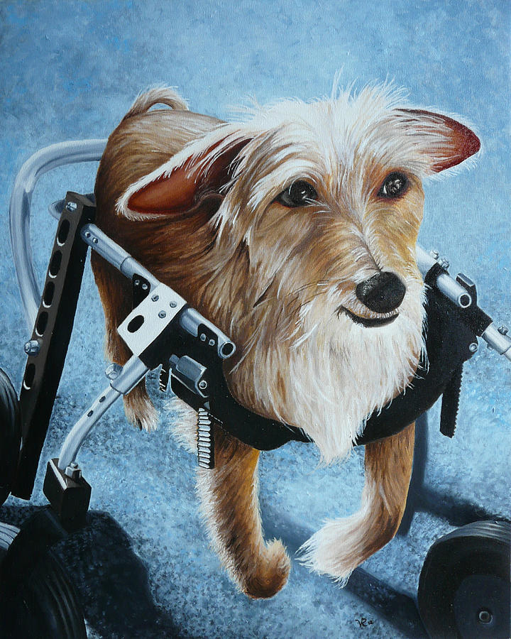 Pet Painting - Buddys Hope by Vic Ritchey