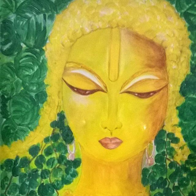 Budha Painting by Seema Sharma