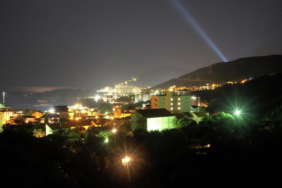 Montenegro Photograph - Budva At Night, Montenegro by Marko Jegdic