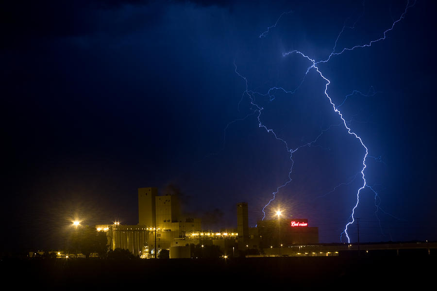 Beer Photograph - Budweiser Beer Brewery Storm by James BO  Insogna