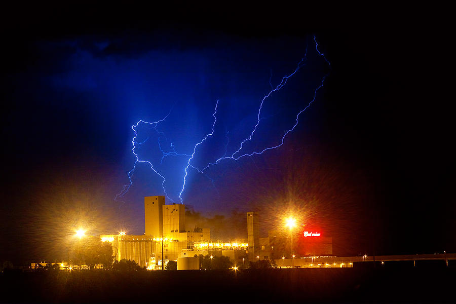 Anheuser-busch Photograph - Budweiser Powered By Lightning by James BO  Insogna