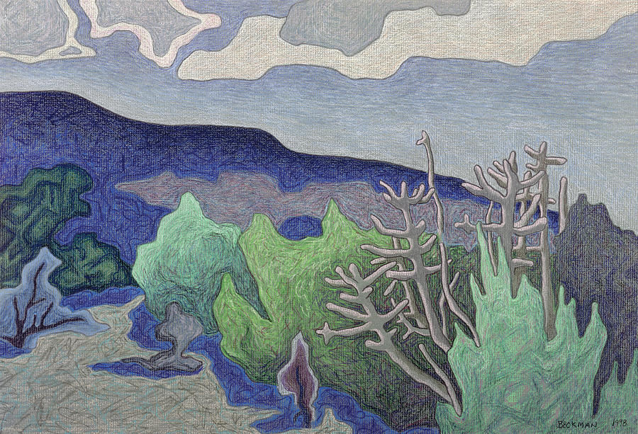 Blue Hill Pastel - Bue Hill by Dale Beckman