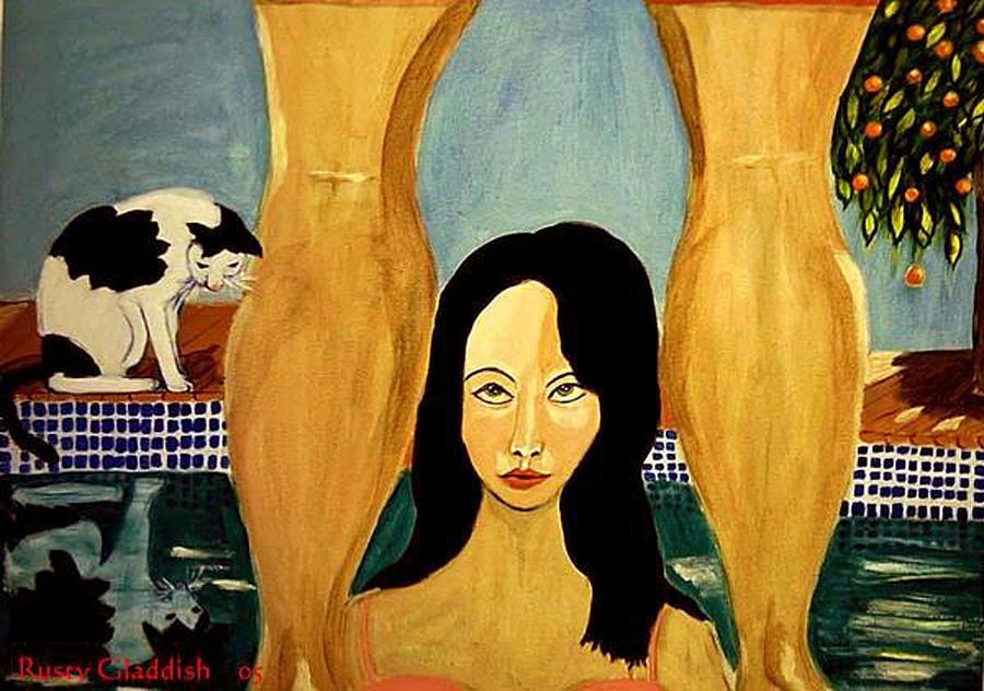 Cat Painting - Buena Vista by Rusty Gladdish