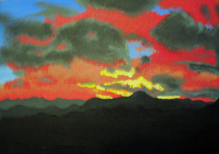 Sunset Painting - Buenas Noches by Marco Morales