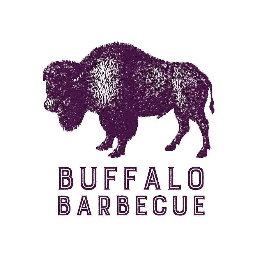 Retro Digital Art - Buffalo Barbecue by Antique Images
