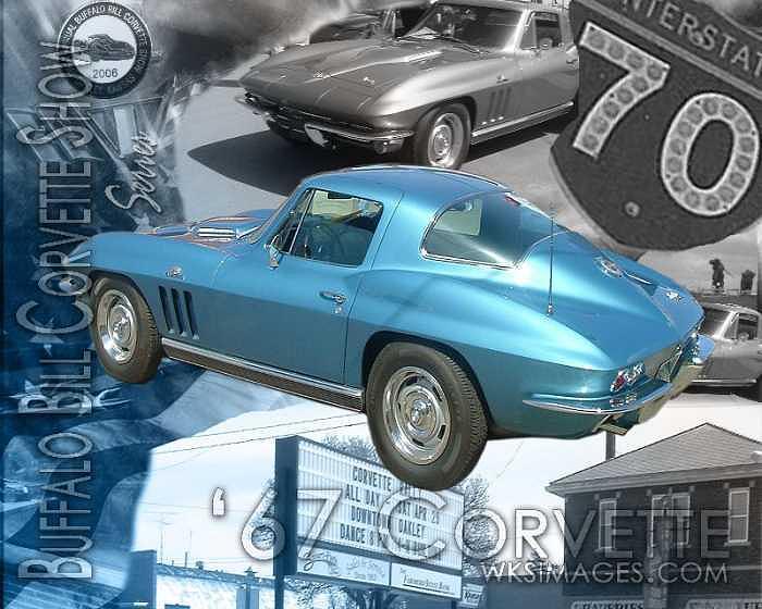 Cars Photograph - Buffalo Bill Corvette Show Series-67 Corvette by Stan Hutchins