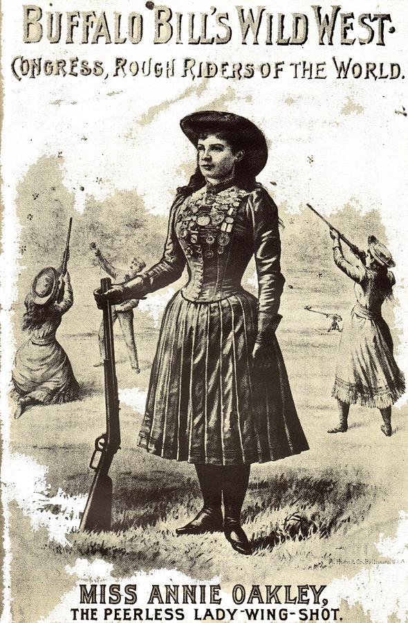 Buffalo Bills Poster Featuring Annie Oakley 1880s-2015 Photograph