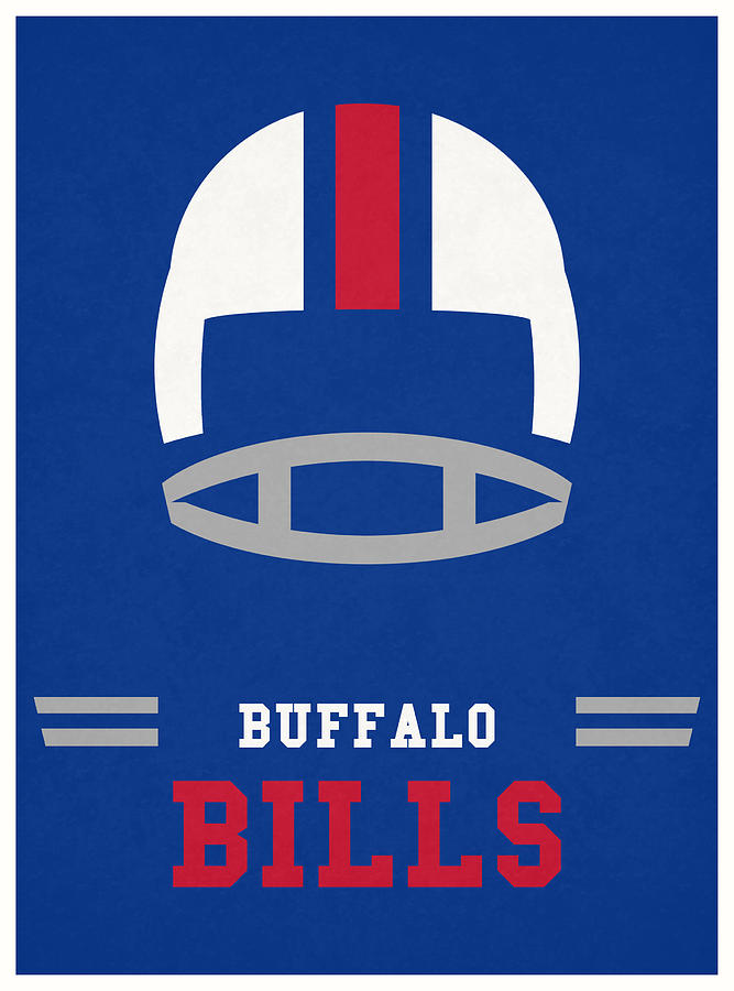 Buffalo Bills Vintage Nfl Art Mixed Media By Joe Hamilton