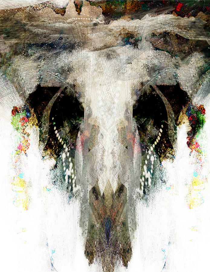 Abstract Digital Art - Buffalo Caves by James VerDoorn