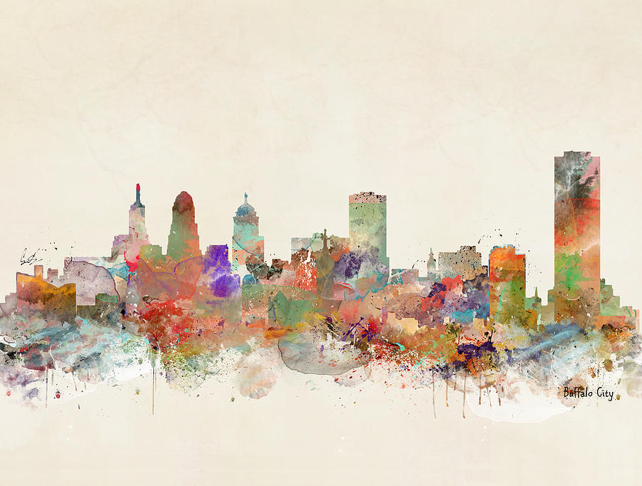 Skylines Painting - Buffalo City by Bri Buckley