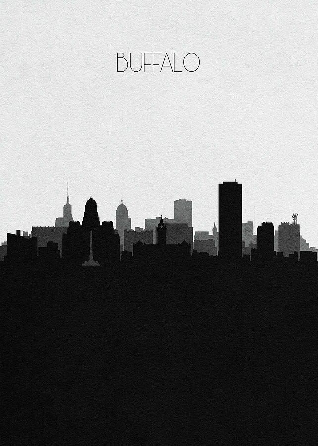 Buffalo Mixed Media - Buffalo Cityscape Art by Inspirowl Design