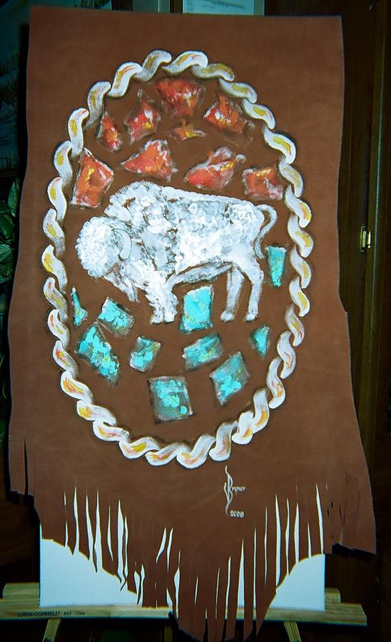 Native American Painting - Buffalo Nickle Buffalo by Lulu Brymer