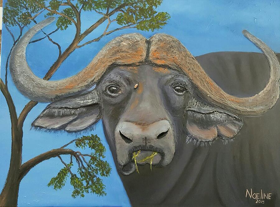 Wild Painting - Buffalo by NOELINE Du Toit