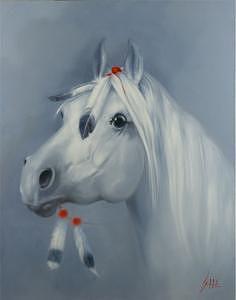 Pony Painting - Buffalo Pony by Gordon Sage