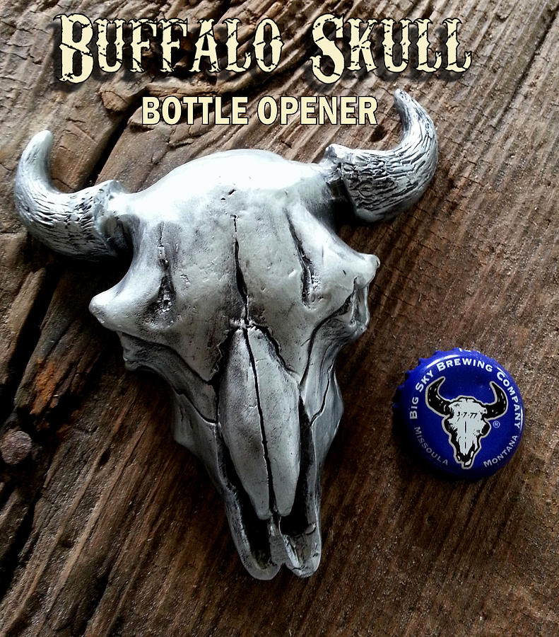 Buffalo Skull Opener by Tim  Joyner